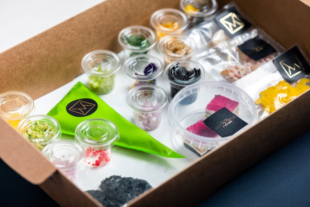 Bento Boxes for home or office delivery from Moving Venue - build your own canapés.